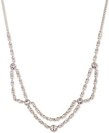 "Crystal Collar Necklace, 16"" + 3"" extender"