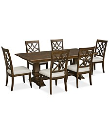 Trisha Yearwood Trisha Dining 7-Pc. Set (Expandable Table & 6 Side Chairs)