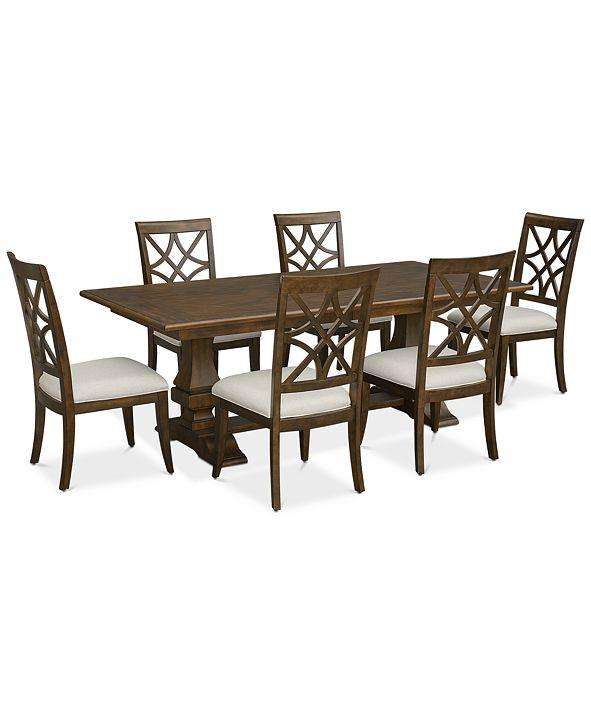 Furniture Trisha Yearwood Trisha Dining Furniture, 7-Pc. Set (Expandable Table & 6 Side Chairs)