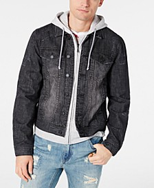 Men's Slate Gray Denim Jacket, Created for Macy's