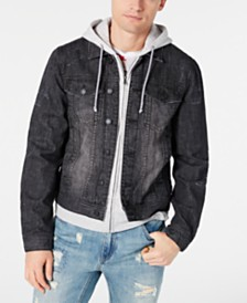 American Rag Men's Slate Gray Denim Jacket, Created for Macy's