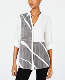 Alfani Colorblocked Shirt, Created for Macy's