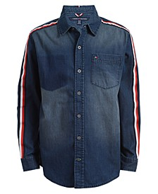 Toddler Boys Spencer Taped Denim Shirt