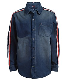 Tommy Hilfiger Big Boys Spencer Taped Denim Shirt