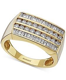 EFFY® Men's Diamond Ring (1-1/5 ct. t.w.) in 14k Gold
