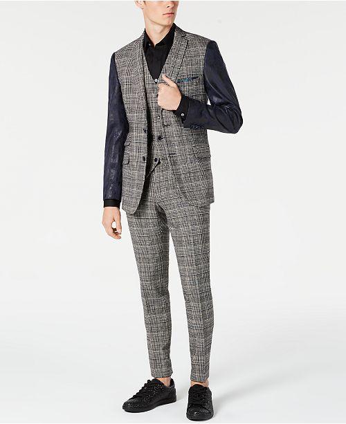 Paisley & Gray Slim-Fit Blue Check Suit