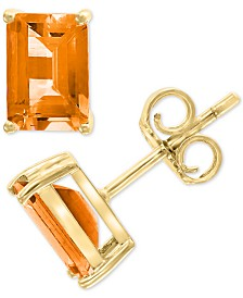 EFFY® Citrine Stud Earrings (1-9/10 ct. t.w.) in 14k Gold