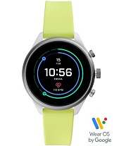 e162ebc5b Fossil Women's Sport HR Neon Silicone Strap Smart Watch 41mm, Powered by Wear  OS by