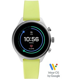 Fossil  Women's Sport HR Neon Silicone Strap Smart Watch 41mm, Powered by Wear OS by Google™