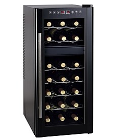 SPT 21-Bottle Dual-Zone Thermo-Electric Wine Cooler with Heating