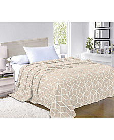 Elegant Comfort Super Silky Soft - Sale - All Season Super Plush Luxury Fleece Blanket Cube Design