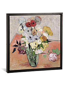 """Japanese Vase with Roses and Anemones, 1890 by Vincent Van Gogh Gallery-Wrapped Canvas Print - 37"""" x 37"""" x 0.75"""""""