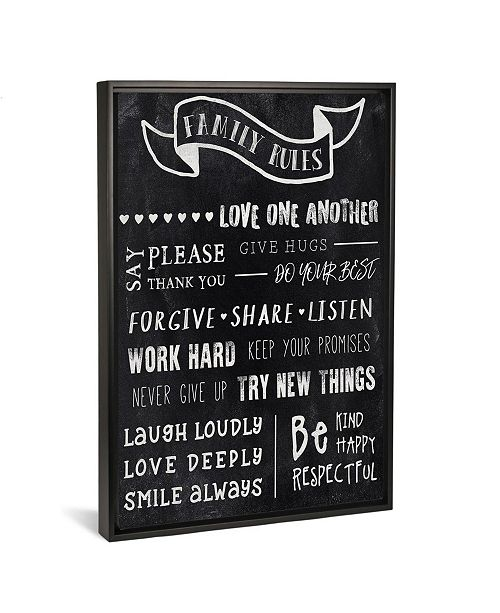 """iCanvas Chalkboard Rules I by Cad Designs Gallery-Wrapped Canvas Print - 26"""" x 18"""" x 0.75"""""""