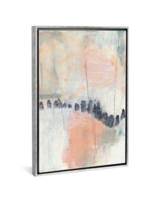 "Blush and Navy I by Jennifer Goldberger Gallery-Wrapped Canvas Print - 40"" x 26"" x 0.75"""
