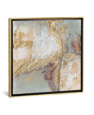"""Gilded Circuit I by Jennifer Goldberger Gallery-Wrapped Canvas Print - 37"""" x 37"""" x 0.75"""""""