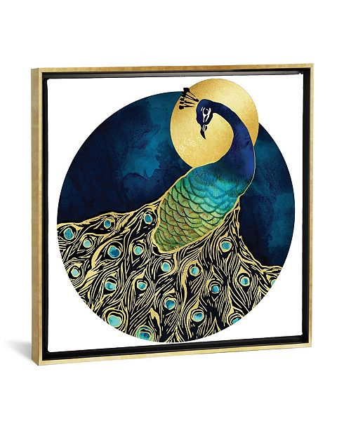 """iCanvas Golden Peacock by Spacefrog Designs Gallery-Wrapped Canvas Print - 18"""" x 18"""" x 0.75"""""""