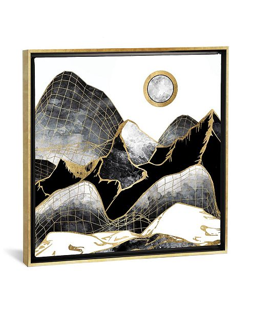 """iCanvas Minimal Black and Gold Mountains by Spacefrog Designs Gallery-Wrapped Canvas Print - 26"""" x 26"""" x 0.75"""""""