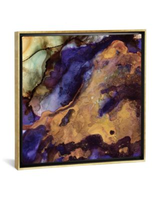 """Purple and Gold Abstract by Spacefrog Designs Gallery-Wrapped Canvas Print - 37"""" x 37"""" x 0.75"""""""
