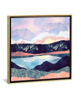 """Lake Reflection by Spacefrog Designs Gallery-Wrapped Canvas Print - 37"""" x 37"""" x 0.75"""""""