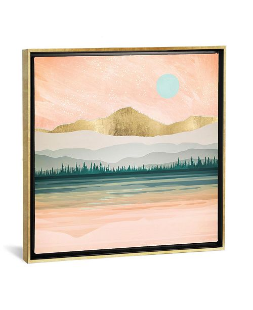"""iCanvas Spring Forest Lake by Spacefrog Designs Gallery-Wrapped Canvas Print - 18"""" x 18"""" x 0.75"""""""