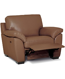 "Lothan 41"" Leather Power Footrest Recliner, Created for Macy's"