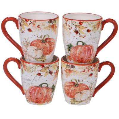 Harvest Splash Mug, Set of 4