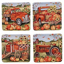 Harvest Bounty Dessert Plate, Set of 4