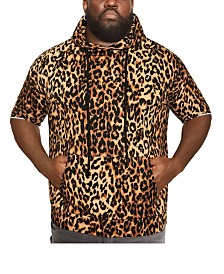 MVP Collections Men's Big and Tall Animal Print Short Sleeve Hoodie