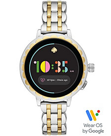 kate spade new york Women's Scallop 2 Two-Tone Stainless Steel Bracelet Smart Watch 41mm, Powered by Wear OS by Google™