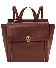 Fossil Amelia Leather Convertible Backpack