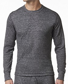Men's 2 Layer Merino Wool Blend Thermal Long Sleeve Shirt