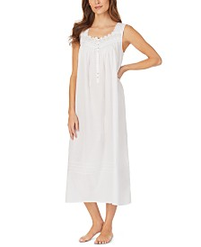 Eileen West Venise Lace Clip Dot Nightgown