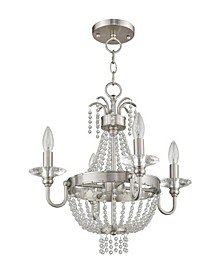 Valentina 4-Light Convertible Mini Chandelier/Ceiling Mount