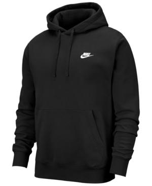 Nike Men's Club Fleece Colorblocked Half-zip Hoodie In Black