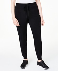 Charter Club Plus Size Cashmere Jogger Pants, Created for Macy's