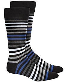 Men's Striped Dress Socks, Created for Macy's