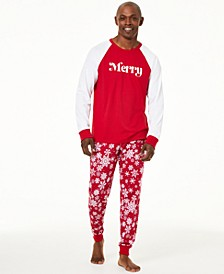 Matching Men's Merry Pajama Set, Created For Macy's