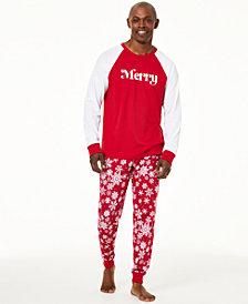 Matching Family Pajamas Men's Merry Pajama Set, Created For Macy's