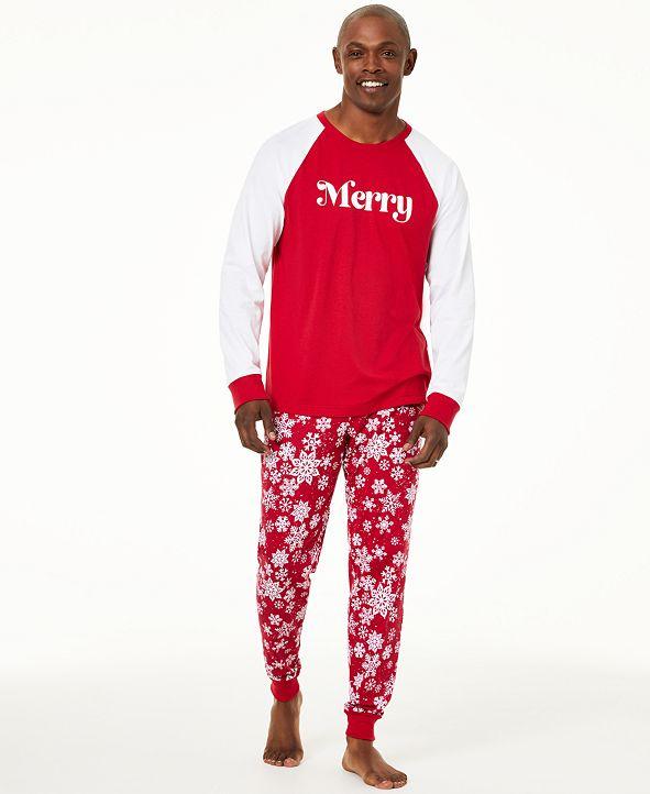 Family Pajamas Matching Men's Merry Pajama Set, Created For Macy's