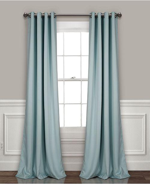 "Lush Decor Insulated 52"" x 120"" Blackout Curtain Set"