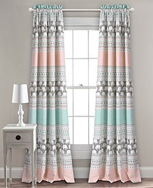 "Elephant Stripe 52"" x 84"" Curtain Set"