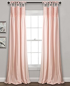 "Lydia Ruffle 95""x40"" Window Panel Set"