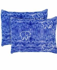 Ivory Ella Gia Ultra Soft Plush Standard Sham Pair