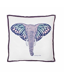 Ivory Ella Monarch Square Pillow