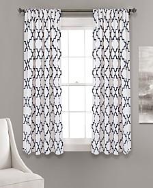 "Bellagio Room Darkening 63""x52"" Window Panel Set"