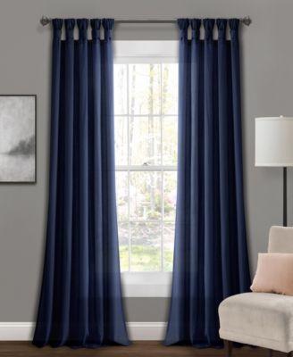 Room Essentials Tie-Up Shade 45 X 63 Heathered Blue