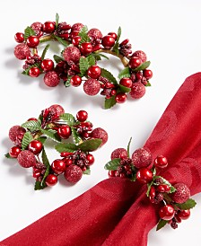Martha Stewart Collection Wreath Napkin Rings, Set of 4, Created for Macy's