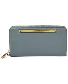 Liza Leather Zip-Around Wallet
