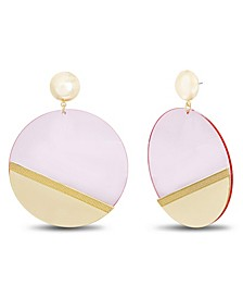 Women's Flat Disc Post Earrings
