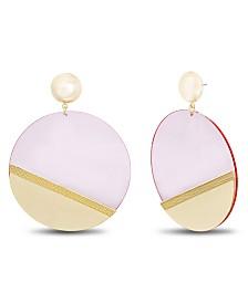 Catherine Malandrino Women's Flat Disc Post Earrings